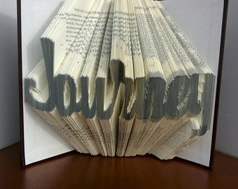 Journey - Folded Book Art - Fully Customizable, AA Big Book, Alcoholics Anonymous gift