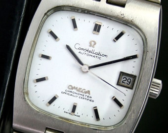 Omega Constellation Automatic Quick Set Date Steel 1970s Mens Vintage Watch & Band (12171)