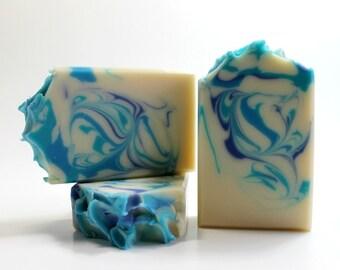 Soap, Mountain Breeze Cold Process Soap, Handmade Soap, Artisan Soap, Body Soap Bar, Man Soap, Blue Soap, Soap for Man, Natural Soap