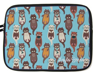 Customizable Adorable Otters Planner Case - 12 Inch Laptop Case