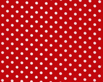 Dumb Dot in Red Premium Cotton Fabric by Michael Miller
