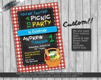 Picnic Party Invitations/ Invitacion Picnic Party