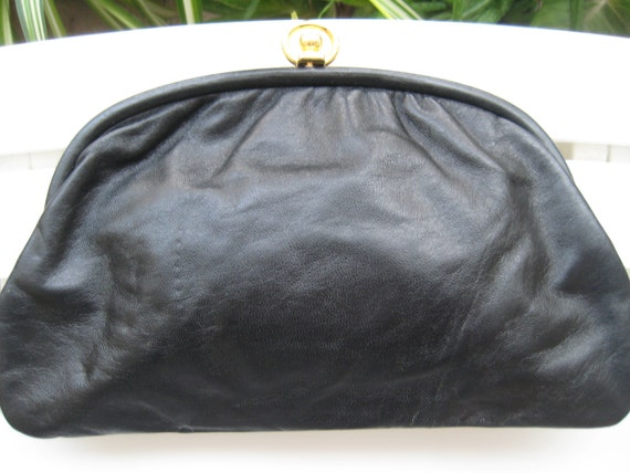 VTG Leather Clutch from Italy