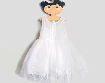 Fairy White dress, lace toddler dress, white lace girl dress, flower girl dress, baby girl dress, holiday dress