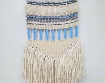 "Weaving, Macrame, Woven Wall hanging, Fiber art ""Coastal Straights"""