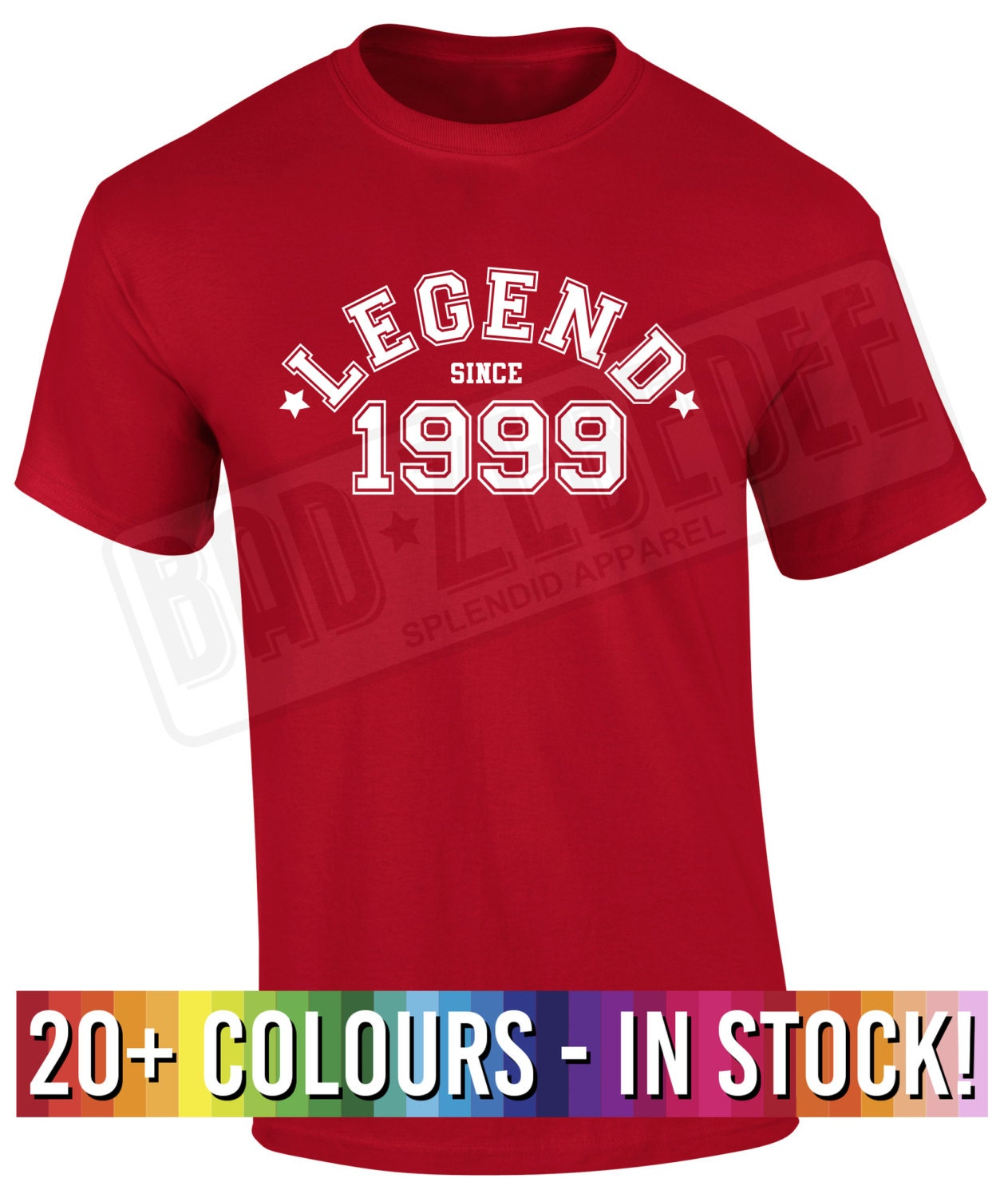 18th Birthday T Shirt Gift Legend Since 1999 Funny