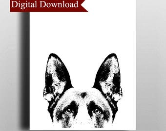 German Shepherd DIGITAL Print Download
