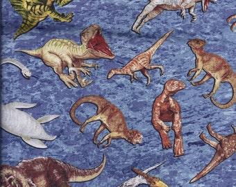 Dinosaur Blue Curtain Valance