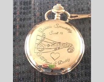 Custom Engraved Pocket Watch