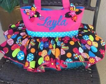 Tutu Tote Bag, Large 13x13 or Medium 11x8   Personalization