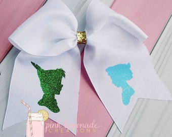 Peter Pan, Wendy Darling,  Neverland Inspired Cheer Bow