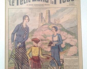 """Lithograph;"""" Le Petit echo de la mode 1931 """"."""