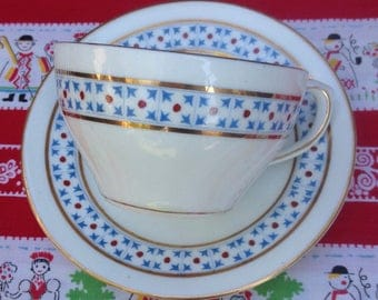 Vintage Cup and saucer, Thomas Morris Crown Chelsea china.
