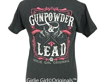 Girlie Girl Originals Gunpowder & Lead 2 Black Heather Short Sleeve T-Shirt