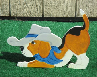 Beagle Cowboy Dog Yard Sign