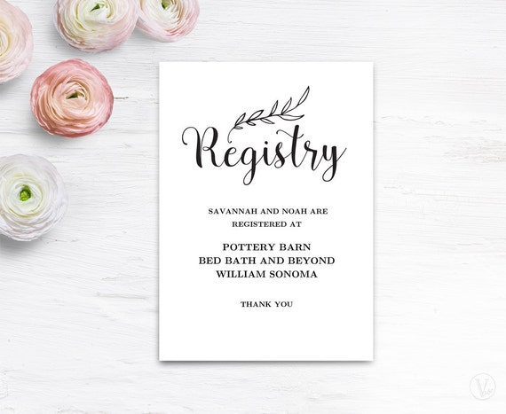 Vibrant image with free printable registry cards
