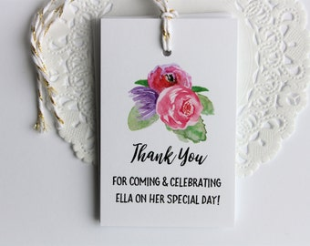 Thank you tags. Favor Tags. Wedding Tags. Floral Tags. Flowers. Bridal Shower Tags. Custom Tags. Baby Shower Tags. Birthday Tags. Thanks