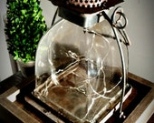 Rustic converted lantern for Home decoration