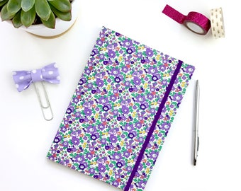A5 Academic diary 2017-2018 planner, liberty print cover, pretty organiser, one week to view