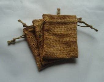 """50 Burlap bags 4"""" x 6"""" for candles handmade soap wedding packaging"""