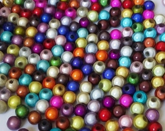 25pcs Assorted Miracle Beads - 6mm Beads - Resin Beads - Plastic Beads - Craft Beads - Jewelry Making Supplies - B17049