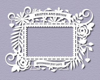 Wedding Paper Cut Template - Hand Cutting Template  - Paper Templates - PDF Printable - Cutting Templates  - Paper templates - Cut your own