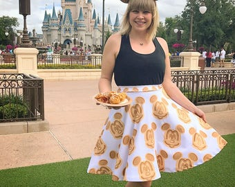 skirt inspired by the tastiest treats in the kingdom... waffles and ice cream!