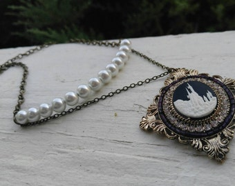 Castle Pendant Necklace
