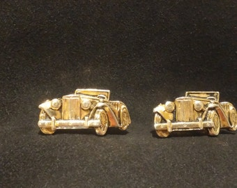 Vintage Anson MG Roadster Sports Car Cuff Links