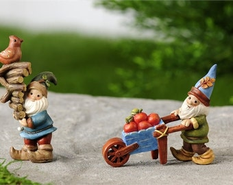 Fairy Garden  - Woodland Gnomes Series B Set of 2 - Miniature