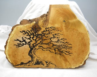 Live edge Black Locust plaque