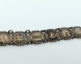 French vintage souvenir bracelet Paris