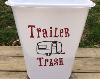 Trailer Trash Can, Trailer Garbage Can, Happy Camper, Trailer Signs, Camping Sign