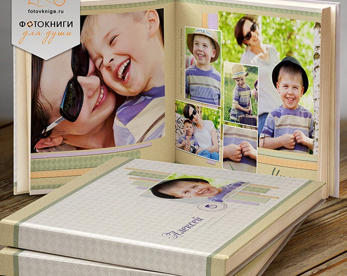 PHOTOBOOK - 365 favorite photos - Photoshop Templates. 12x12 Photo Book/Album Template