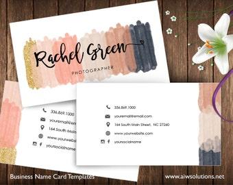 Beauty salon name card, business card template,  glitter name card, model name card, Nail salon name card, Photography name card,