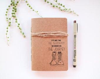 Travel Journal - A6 Insert - Kraft Travel Journal - Pocket Notebook - Pocket Journal - Traveller Gift Idea - Recycled Notebook