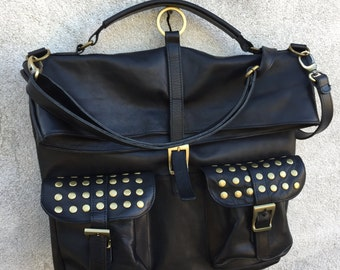 BACKPACK LEATHER BAG made in italy