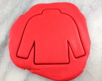 Ugly Christmas Sweater Cookie Cutter Outline #3 - SHARP EDGES - FAST Shipping - Choose Your Own Size!