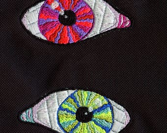 Glow in the Dark Embroidered Iron-on Eye patch