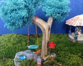 Miniature Tree W/ Tree Swing Handmade Miniature Fairy Garden Trees Themed  Garden Decorations Terrariumn Accessories
