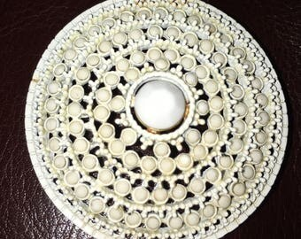 White Glitter Broach