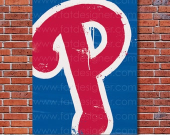 Philadelphia Phillies Graffiti- Art Print - Perfect for Mancave