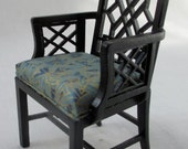 Miniature Dollhouse Or Roombox Chinese Chippendale Armchair 1:12 Scale By Jbm J31058