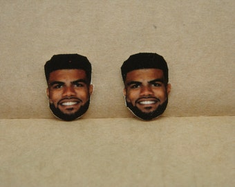 Ezekiel Elliott stud earrings, Dallas Cowboys, Ohio State