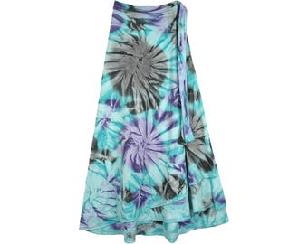 Curious Gypsy Tie Dye Wrap Long Skirt