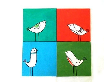 Wooden Coasters, Bird Lover Gift, Wood Coasters, Bird Gift, Animal Lover Gift, Home Decor, New Home Present, Drink Coasters, Wedding Gift