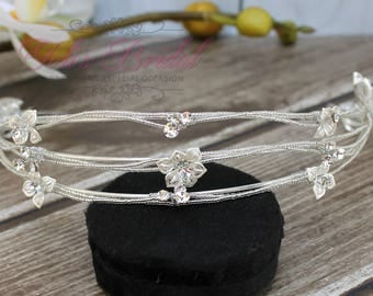 FAST SHIPPING!! Gorgeous Bridal Headband, Swarovski  Headband, Crystal Headband, Swarovski Headband, Silver Headband, Hair Jewelry