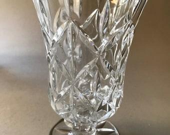 Vintage Cut Lead Crystal Vase Etsy