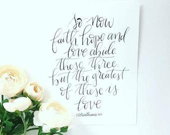 8x10 1 Corinthians 13:13