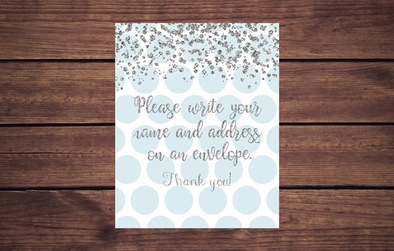 Blue And Silver Address An Envelope Sign, Address An